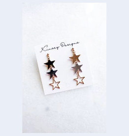 kinsey designs plex earring - gold