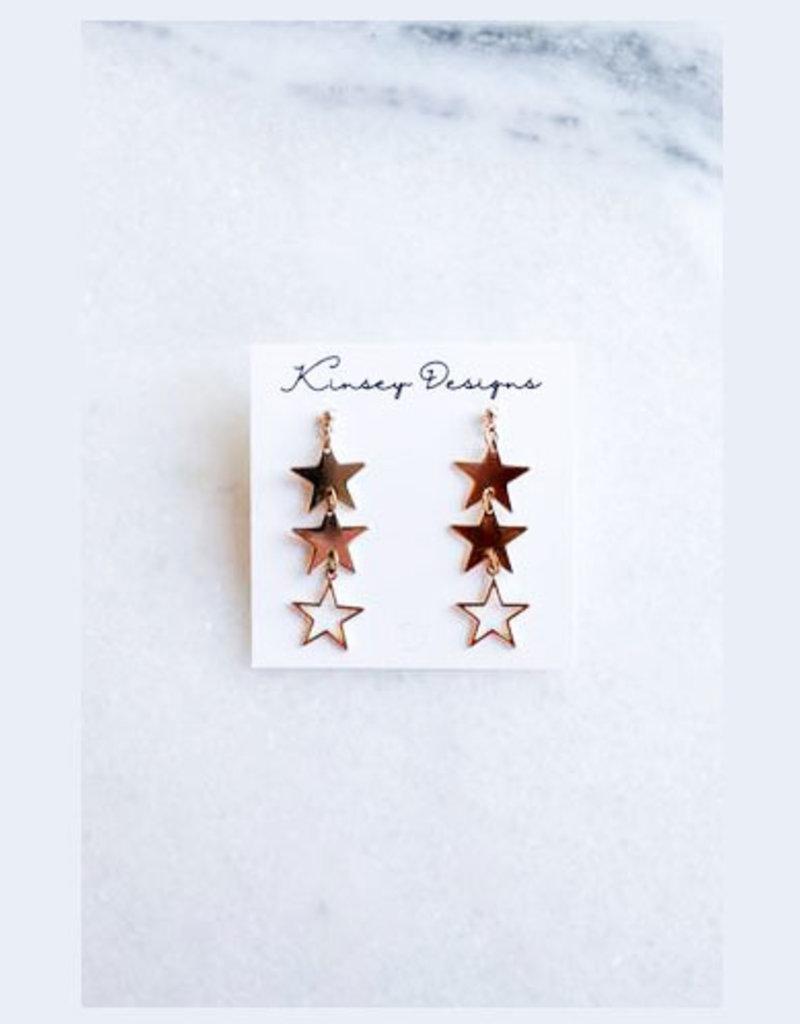 kinsey designs plex earring - gold