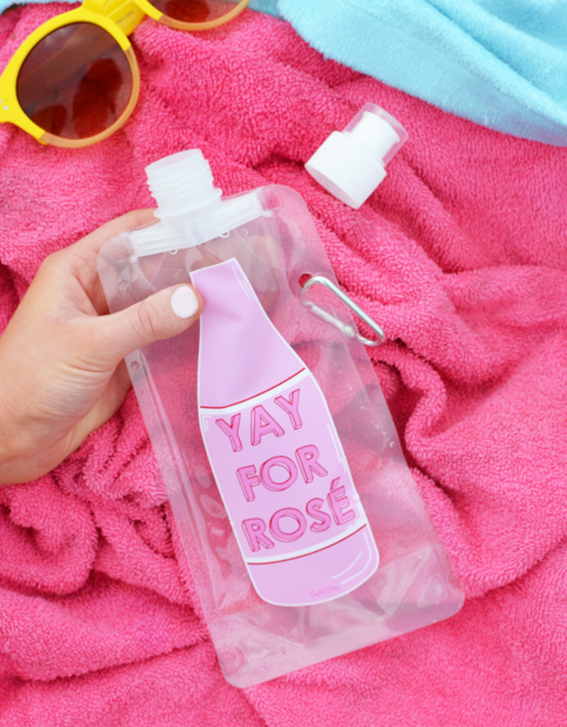 packed party drink pouch- yay for rose FINAL SALE