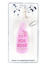 packed party drink pouch- yay for rose