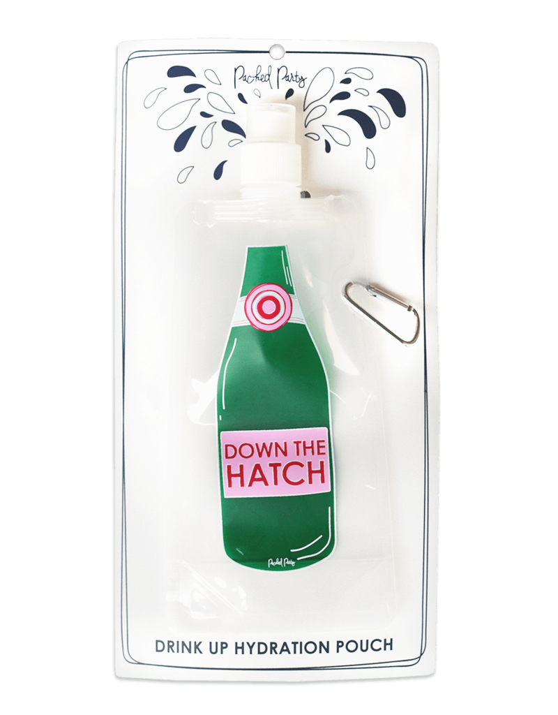packed party drink pouch- down the hatch