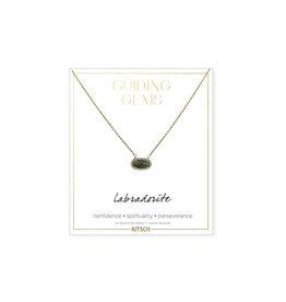 labradorite gem necklace