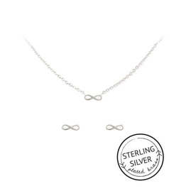 friends forever silver necklace & earring set