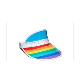 rainbow retro sun visor