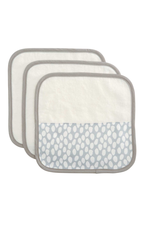 3 pack washcloths grey dot