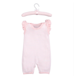pink stripe shortall 3-6 month