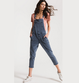z supply the stripe knit denim overalls