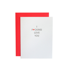 chez gagne f-ing love you card