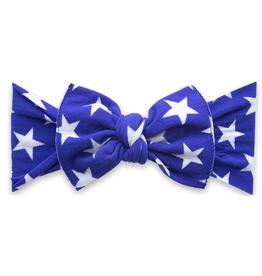Baby Bling printed knot headband- royal stars