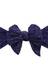 Baby Bling dang enormous bow navy dot