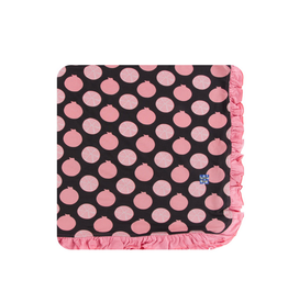 kickee pants zebra pomegranate ruffle toddler blanket