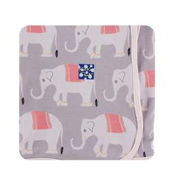 kickee pants feather indian elephant swaddling blanket
