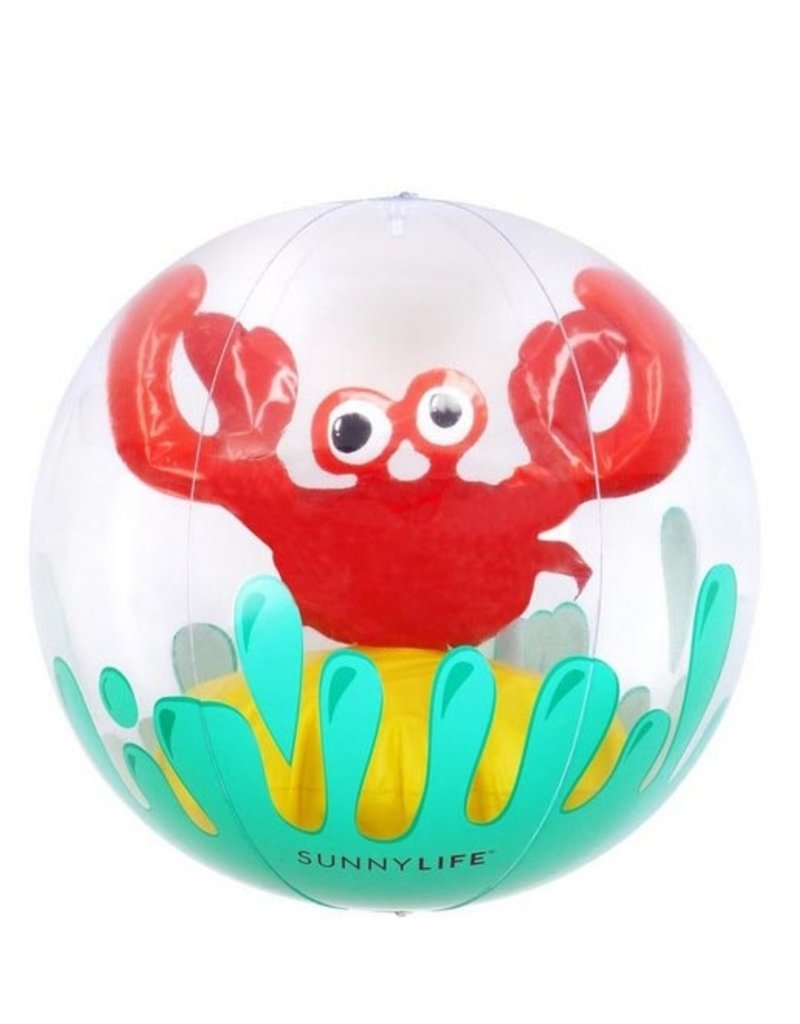3D inflatable beach ball - crabby FINAL SALE