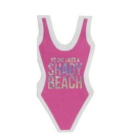slant shady beach swimsuit diecut napkins 20ct FINAL SALE