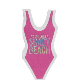 slant shady beach swimsuit diecut napkins 20ct