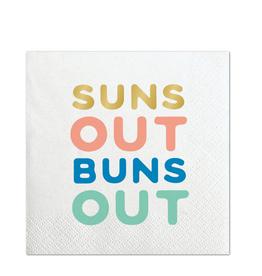 slant suns out bev napkins 20ct FINAL SALE