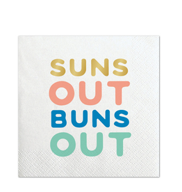 slant suns out bev napkins 20ct