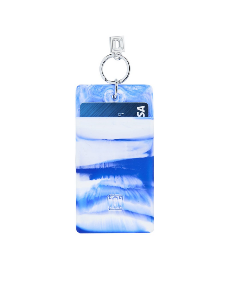blue me away marble silicone id case