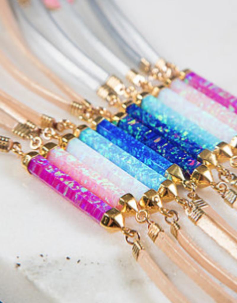 rory ashton baby pink luxe fire opal choker