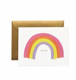 smile rainbow card