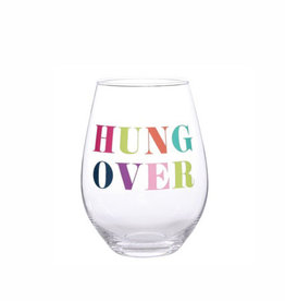 hung over 30oz stemless wine glass