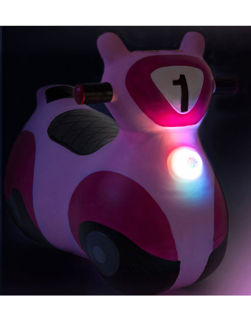 waddle scooter bouncy toy - pink