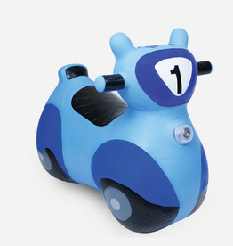 waddle scooter bouncy toy - blue