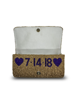 medium structured personalized beaded bag