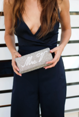 small structured personalized beaded clutch