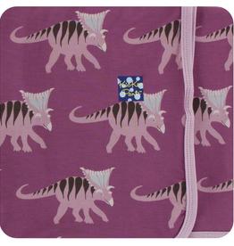 kickee pants amethyst kosmoceratops swaddling blanket