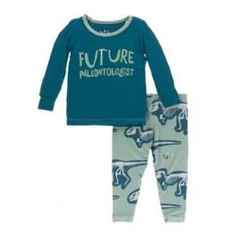 kickee pants shore future paleontologist long sleeve pajama set