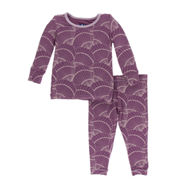 kickee pants shell fossils long sleeve pajama set