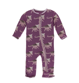 kickee pants amethyst kosmoceratops muffin ruffle coverall with zipper