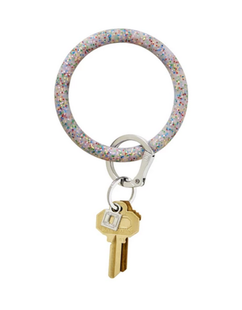 o venture silicone big o key ring- confetti