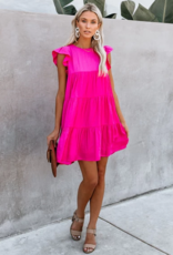 baby doll layered a-line dress