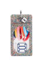 o venture rainbow confetti silicone id case