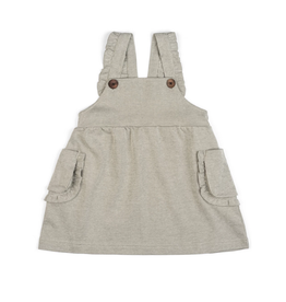 milkbarn organic dress overall grey pinstripe