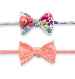 Baby Bling mini printed skinny headbands (set of 2)