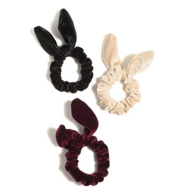 shiraleah bunny ear scrunchies (set of 3)