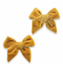Baby Bling velvet bow clips (set of 2)