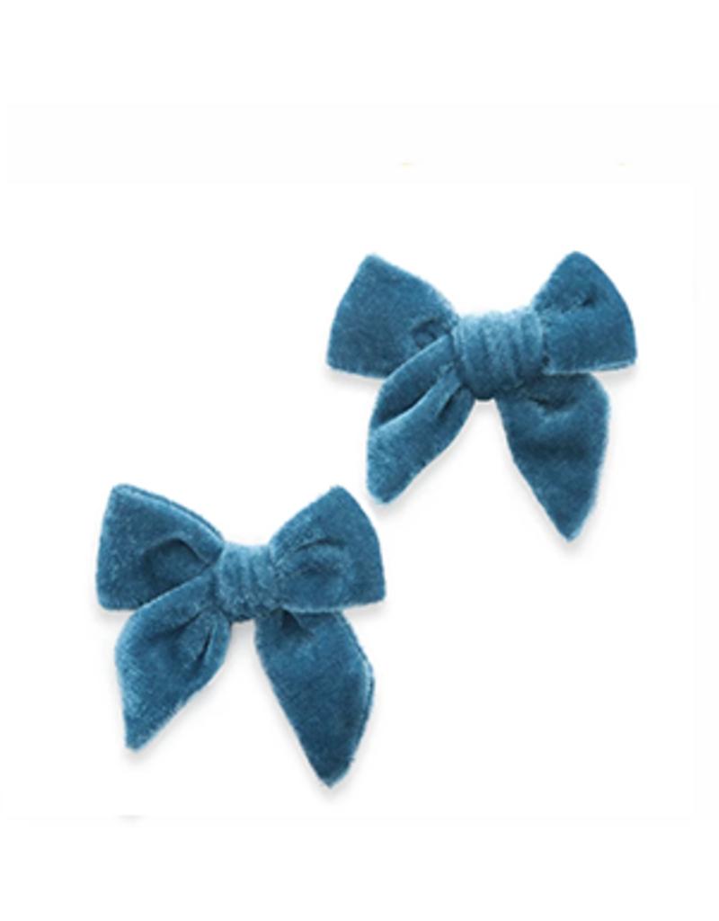 Baby Bling velvet bow clips (set of 2)