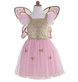 gold butterfly dress set