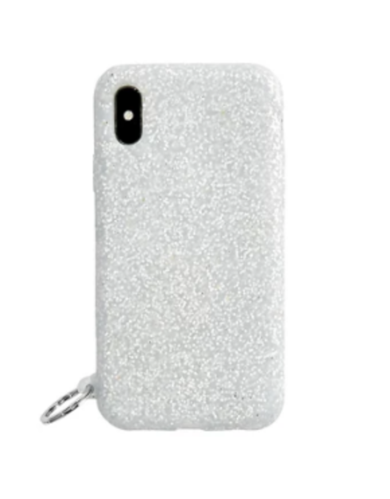 o venture silver confetti o ring iphone case X/XS