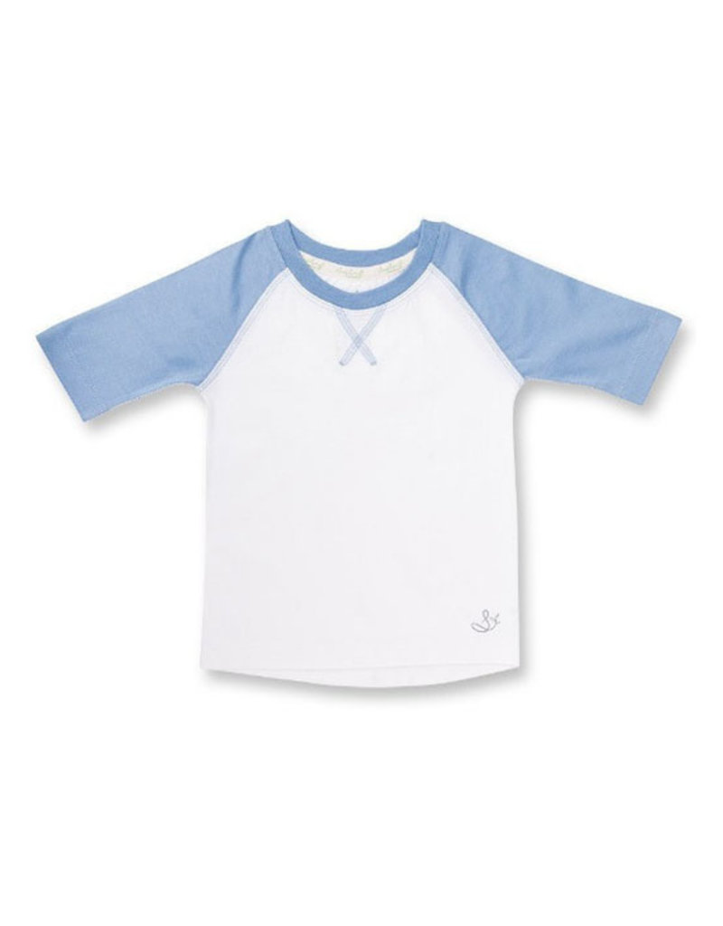 whale blue raglan FINAL SALE