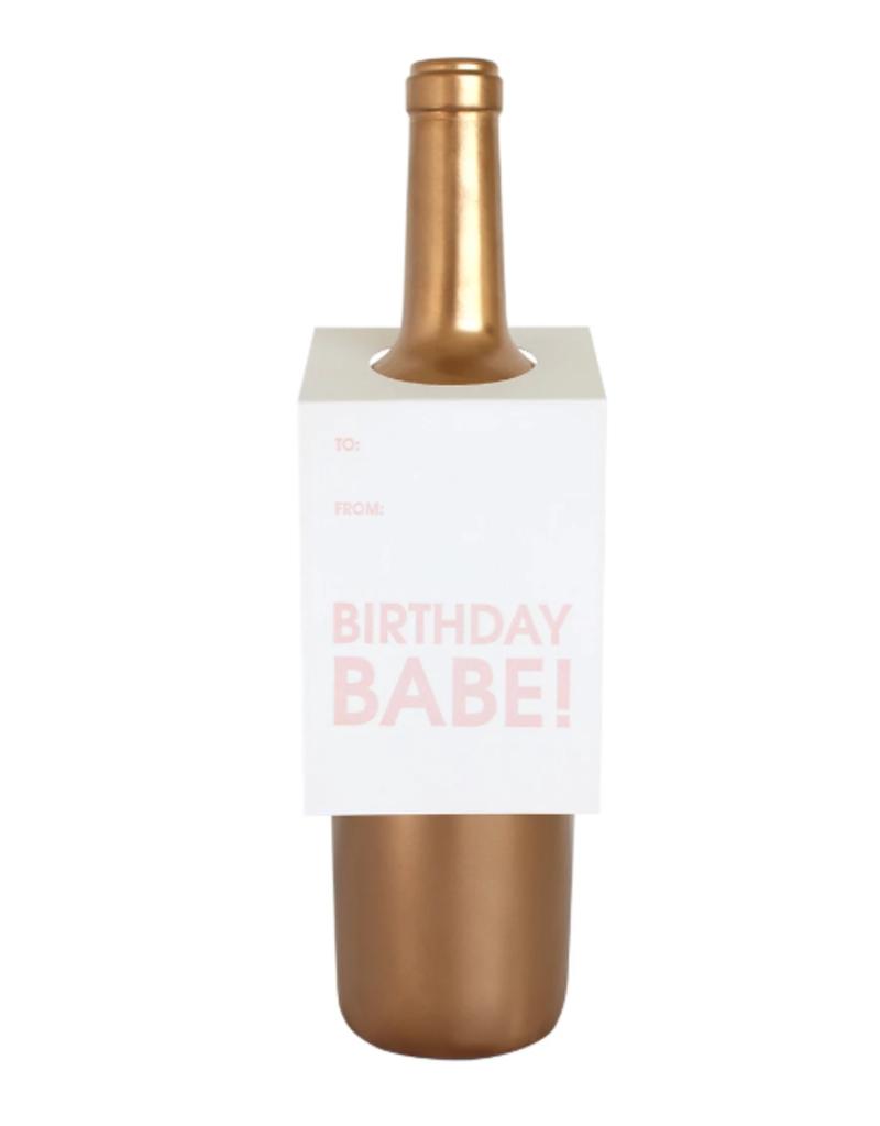chez gagne birthday babe wine tag FINAL SALE