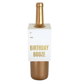 chez gagne birthday booze wine tag FINAL SALE