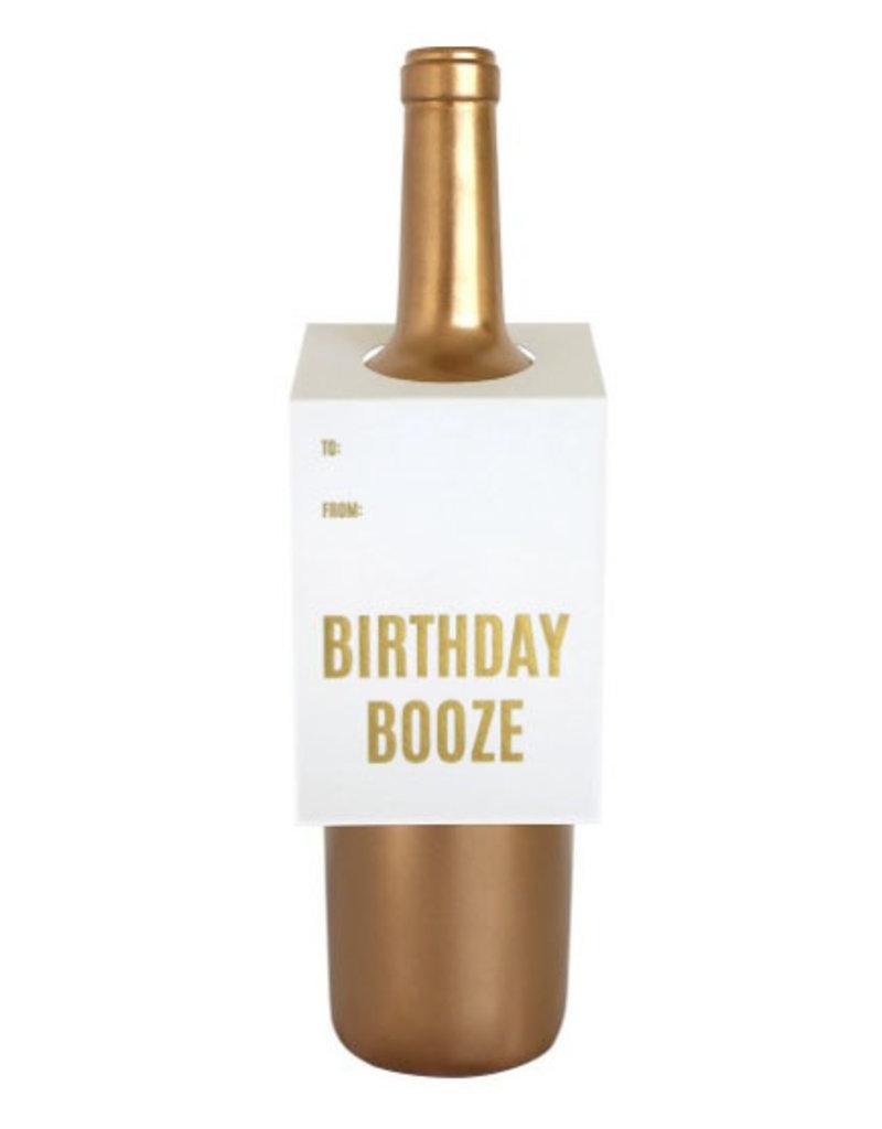 chez gagne birthday booze wine tag FINAL SALE