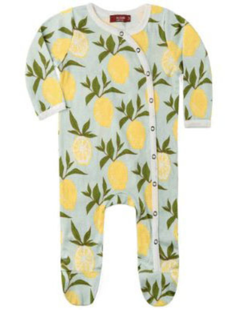 milkbarn blue lemon zip pjs