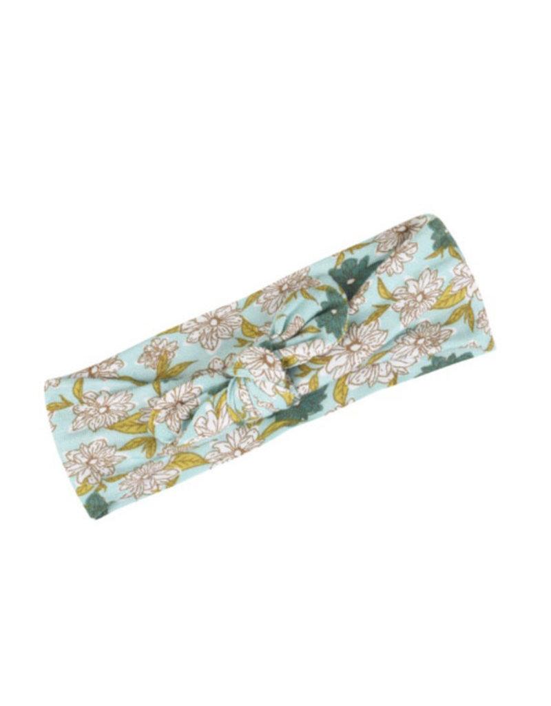 milkbarn blue floral bamboo headband