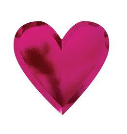 meri meri Die Cut Heart Plate - set of 8 FINAL SALE